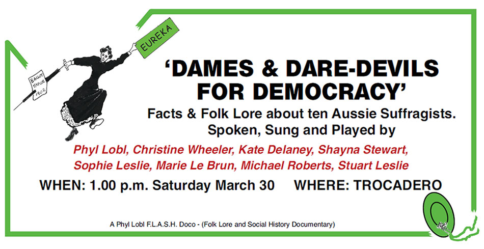 Dames and Dare-devils for Democracy poster